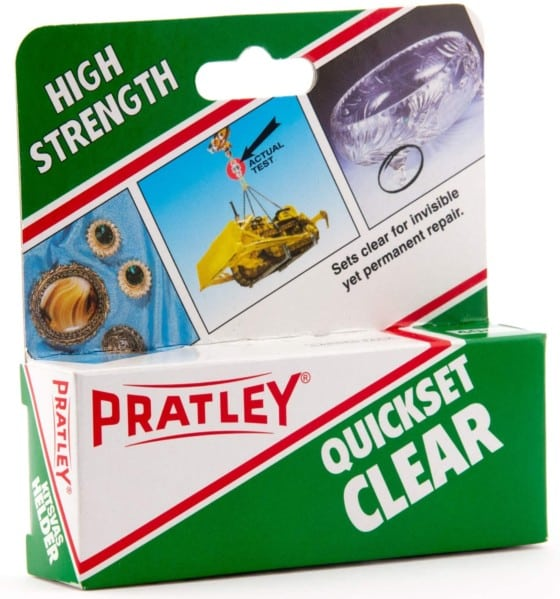 Food-Safe Glass Glue by Pratley, Epoxy Glue - Clear 2 Part Repair Kit