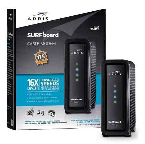 ARRIS SURFboard 16x4 SB6183 DOCSIS 3.0 Cable Modem- Retail Package