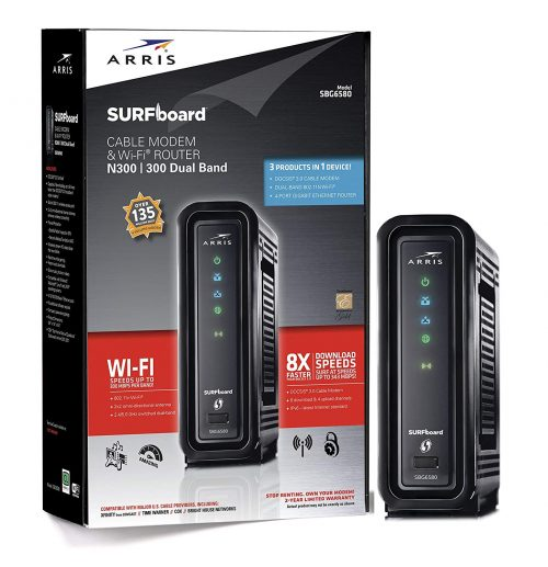 ARRIS SURFboard SBG6580-2 8x4 DOCSIS 3.0 Cable