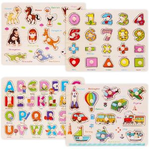 2. WOOD CITY Wooden Peg Puzzles for Toddler