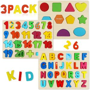 4.  Aitey Wooden Puzzles for Toddlers