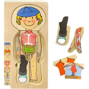 11. Kidzlane Wooden My Body Puzzle for Toddlers