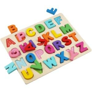 7. Kimuvin Wooden Alphabet Puzzles