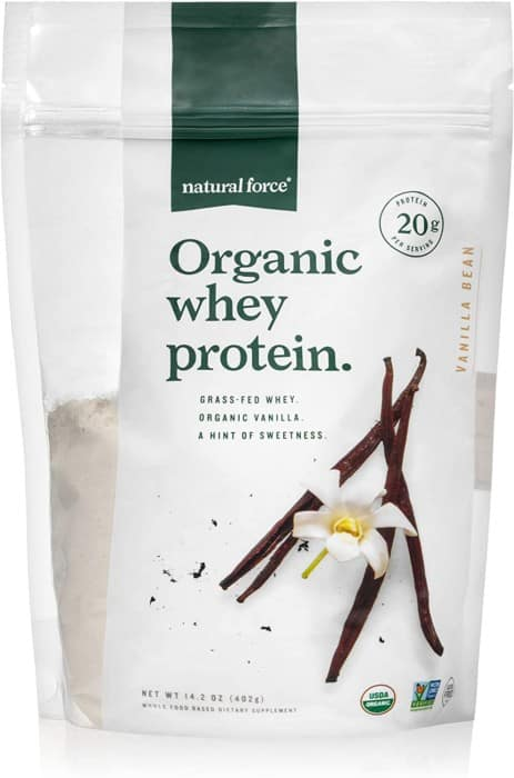 Natural Force Grass-fed Organic Whey Protein Powder