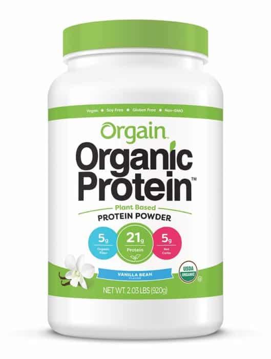 Orgain Organic Plant-based Protein Powder with Vanilla Bean