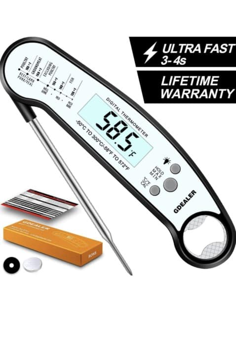 GDEALER Waterproof Digital Meat Thermometer with Bottle Opener