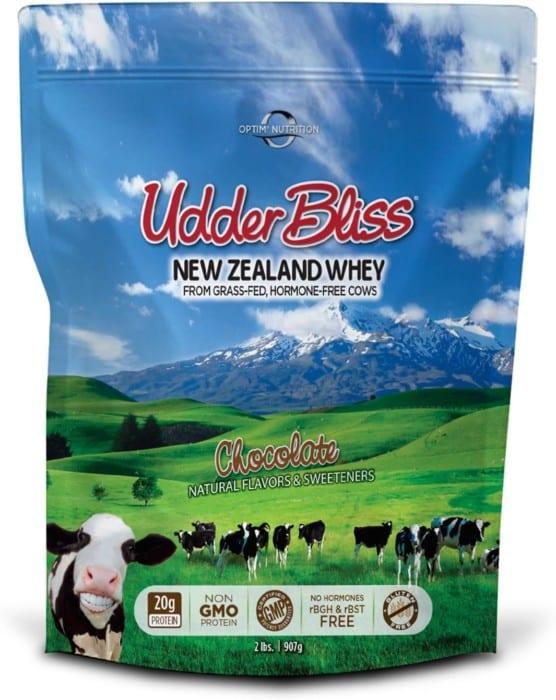 Optim Nutrition Udder Bliss Grass-Fed Chocolate Whey Protein Powder