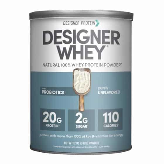 Designer Whey Purely Unflavored Protein Powder