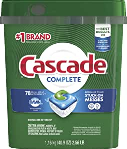 Cascade Complete ActionPacs Dishwasher Detergent, Fresh Scent