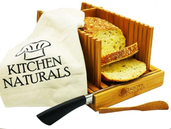 Premium Bamboo Bread Slicer