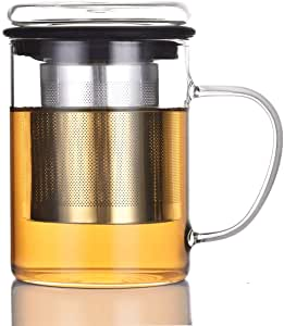 Tomotime 13.5 Oz Mug with Stainless Steel Infuser and Lid