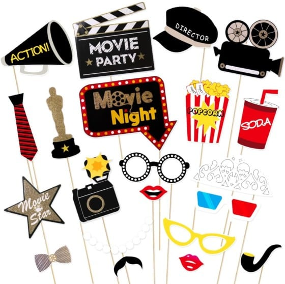 Brand New Hollywood or Movie Night Photo Booth Props Kit – LUOEM