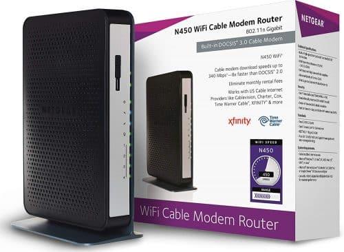 NETGEAR N450 (8x4) WiFi DOCSIS 3.0 Cable Modem Router