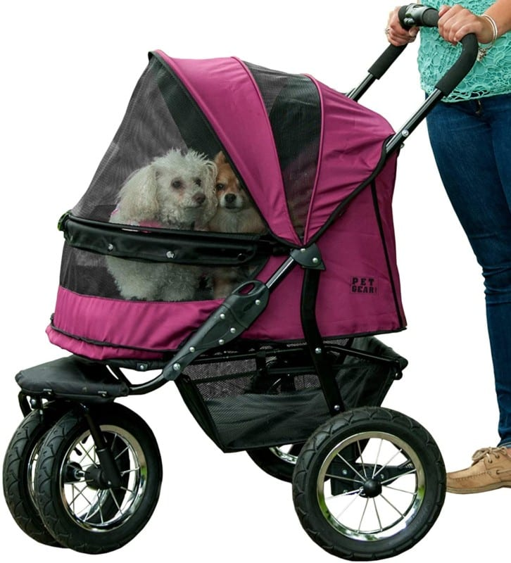 Pet Gear NO-ZIP Double Dog Stroller