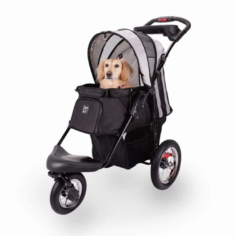 Pet Stroller for Dogs and Cats with Air-Filled Tires with Built-in Suspension