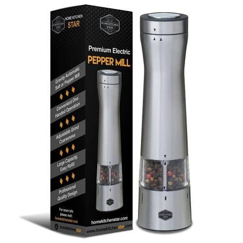 Premium Electric Pepper Grinder or Salt Mill
