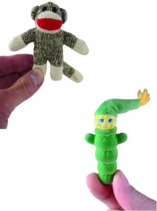 World's Smallest Glo Worm and Sock Monkey (bundle set)