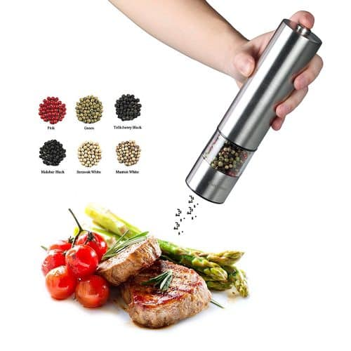 iBunny Premium Stainless Steel Electric Pepper Grinder