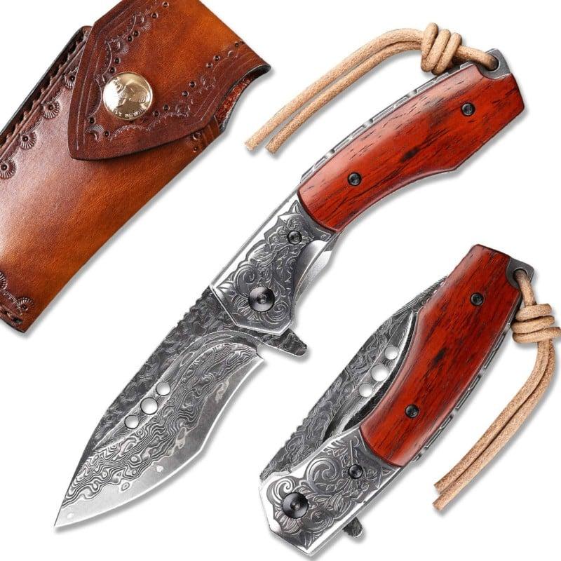 1. NEWOOTZ Japanese Handmade Elegant EDC Knives