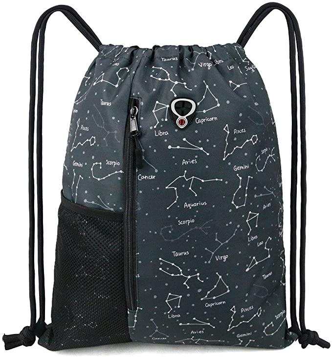 14. BeeGreen Grey Drawstring Bags