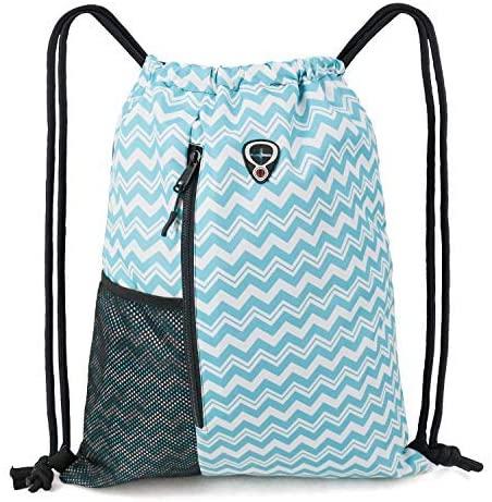 15. BeeGreen Teal Drawstring Bag