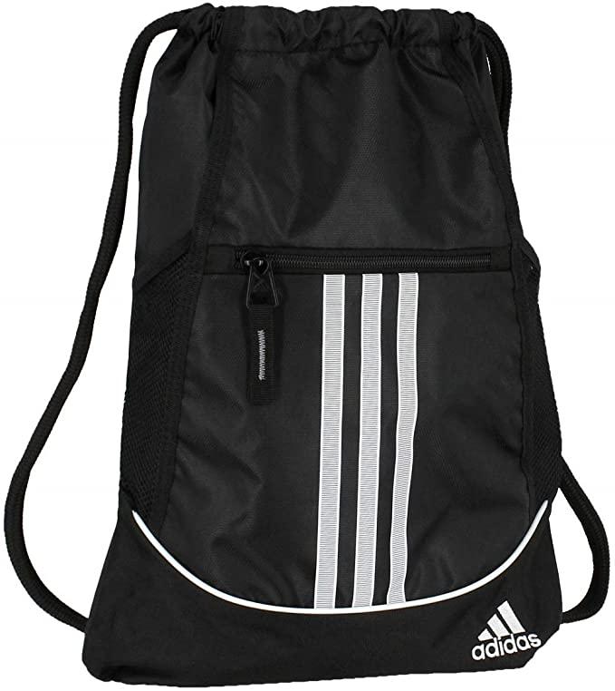 2. Adidas Alliance Black Drawstring Bag