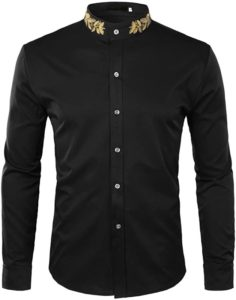 black dress shirt for men