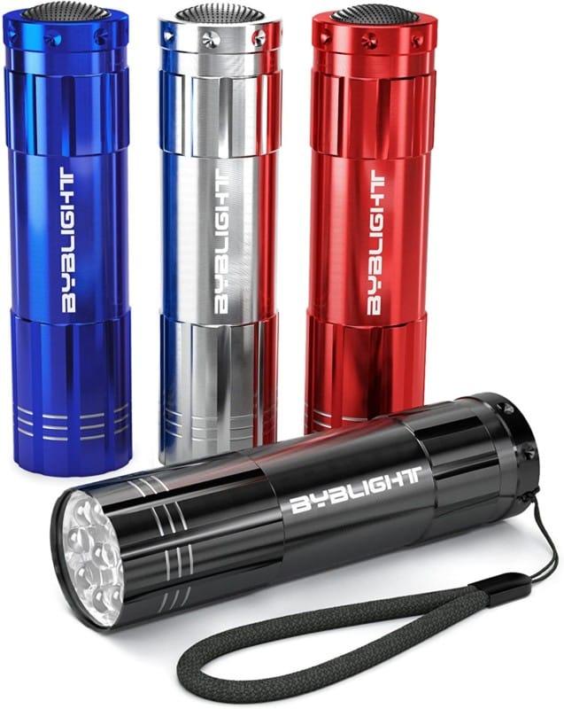 7. BYB Super Bright LED Mini Aluminum Pocket Flashlight Set