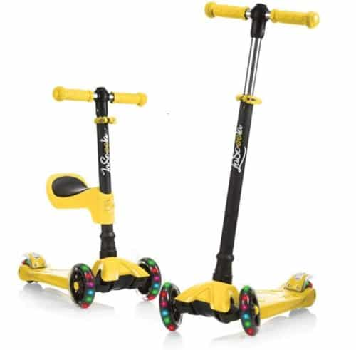 Best Overal: Lascoota 3 Wheel Scooter for Kids with Adjustable Height