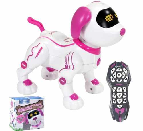 Contixo R3 Walking Pink Robot Dog for Kids Boys and Girls