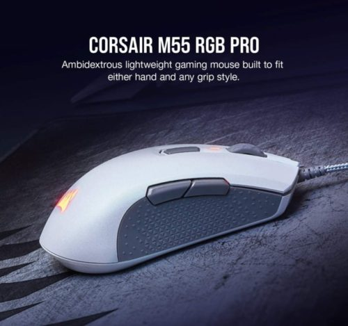 Corsair Pro Wired Multi-Grip White Gaming Mouse