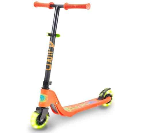 Flybar LED Light Up 2 Wheel Scooter for Kids with Adjustable Handle Height