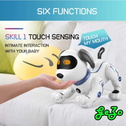 GeZo Electronic Pet Robot Dog Toy for Kids with Multifunctional Interactive