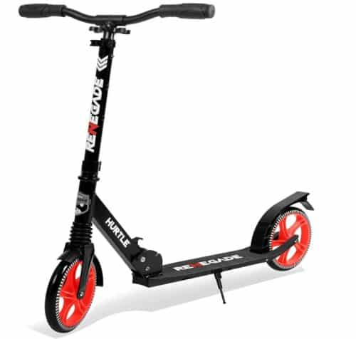 Hurtle 2 Wheel Scooter with Foldable and Adjustable T Bar, Best Large Wheel for Adults and Kids