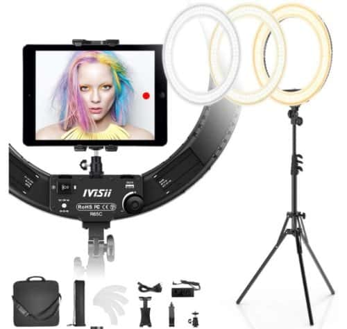 IVISII LED Ring Light with Stand