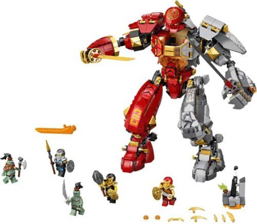 LEGO Robot Toy Fire Stone Mech Building Kit