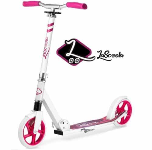 Lascoota 2 Wheel Scooters for Kids with Shoulder Strap, Top Rated Large Wheel for Adults