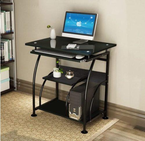 NRG Home Office Furniture Glass Computer Desk
