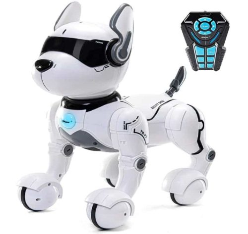 Top Race Remote and Voice Control Imitative Robotic Puppy Toy for Kids