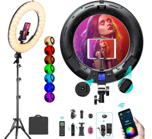 Weeylite RGB LED Ring Light with Stand