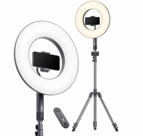 TaoTronics Selfie LED Ring Light with Stand and Remote Control