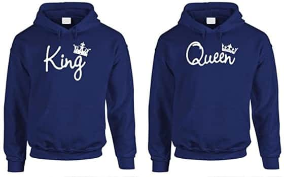 King and Queen Couple Hoodie