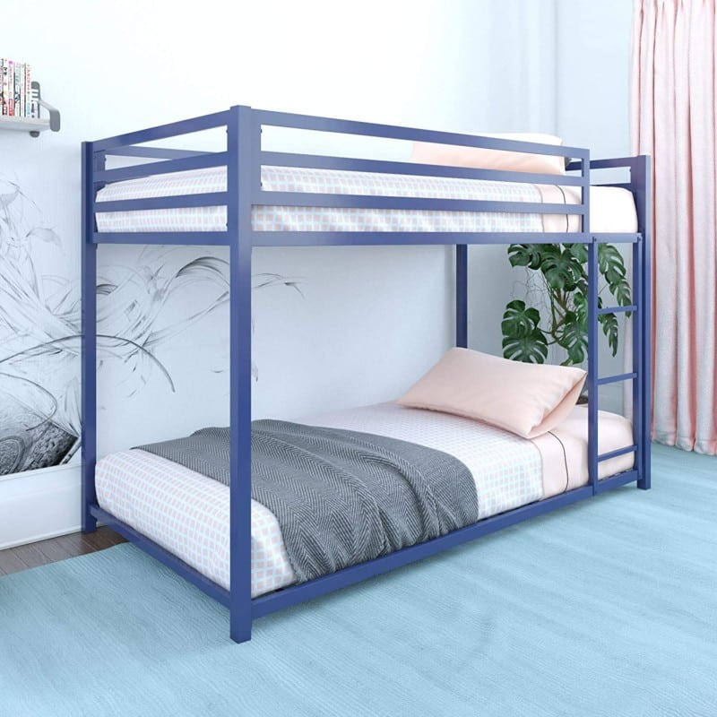 1. DHP Miles Twin Size Metal Bunk Bed