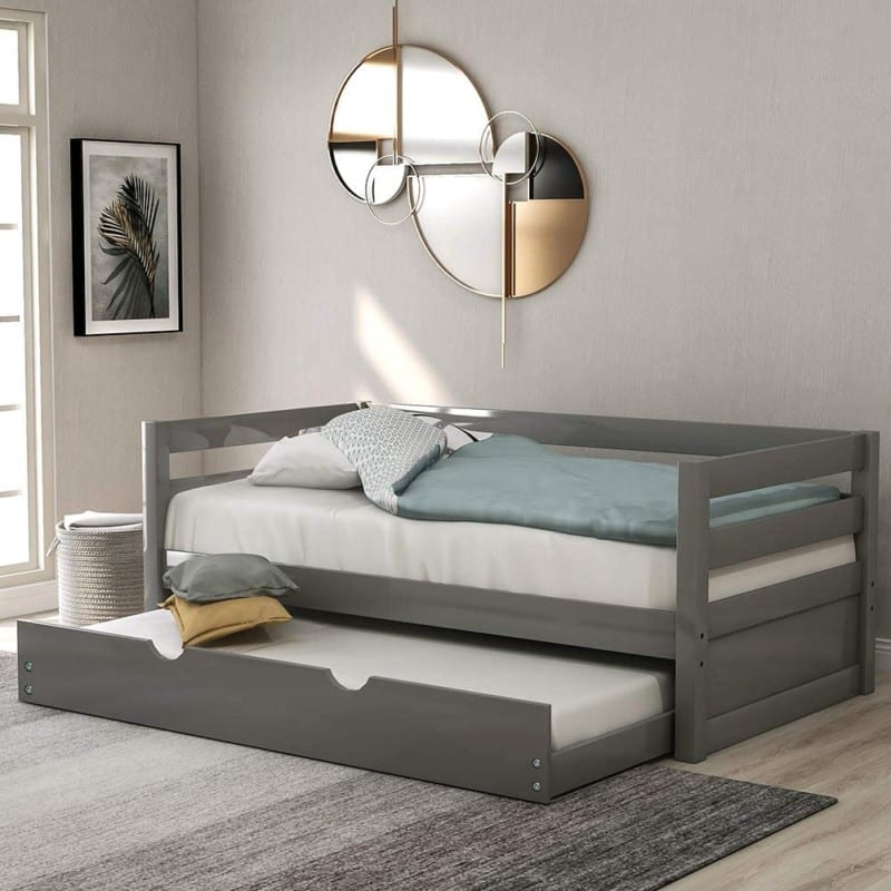 Wood Day Beds with Trundle by Harper & Bright Designs