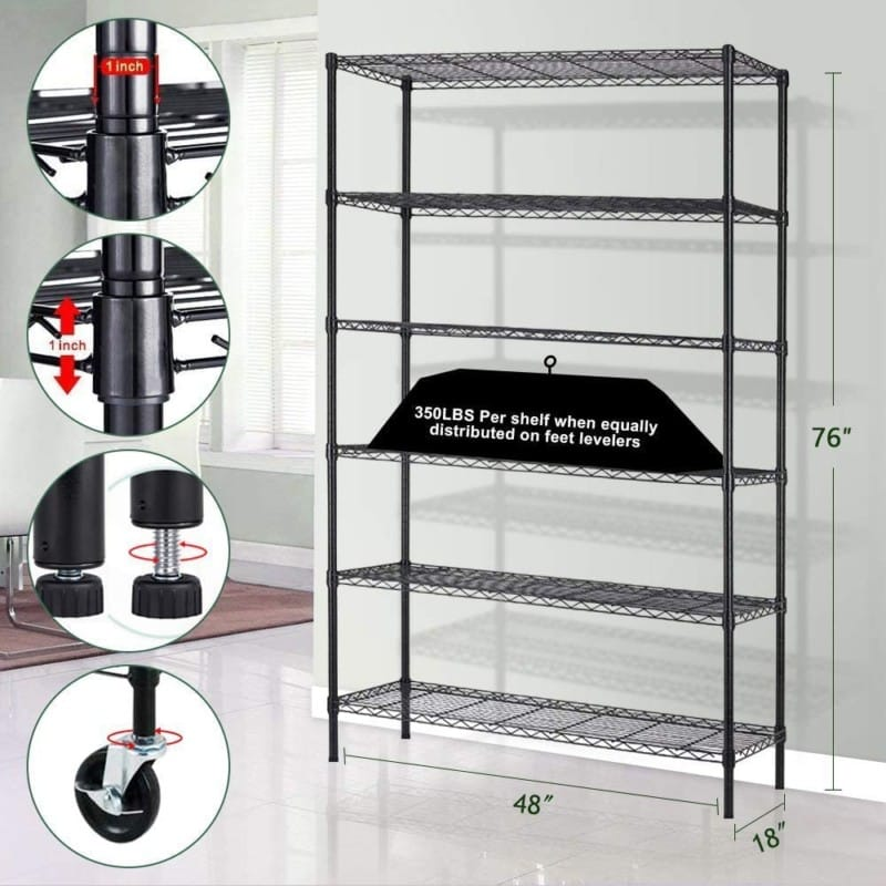 Meet Perfect Metal Storage Shelf Wire Shelving Unit