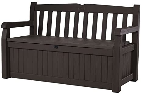 Outdoor Storage Box Deck Benches, Patio Furniture, KETER EDEN