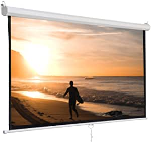 Super Deal Manual Projector Screen, 120 inches, pull down, HD screen 1:1