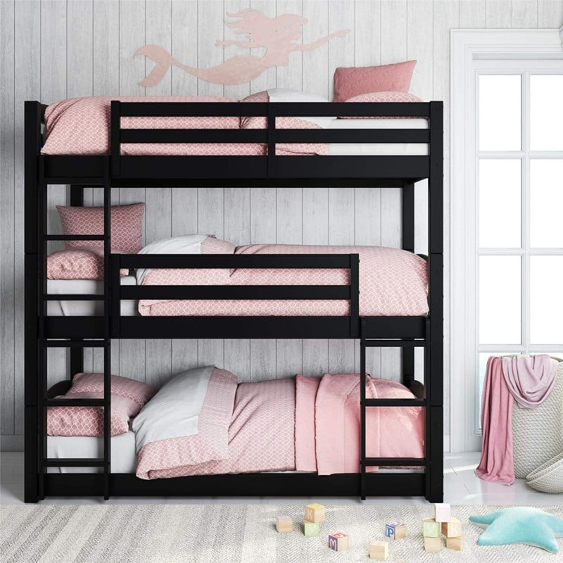 10. Dorel Living Sierra Triple Floor Bunk Bed