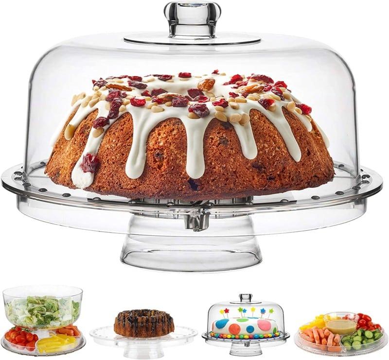 10. Homeries Acrylic Cake Stand