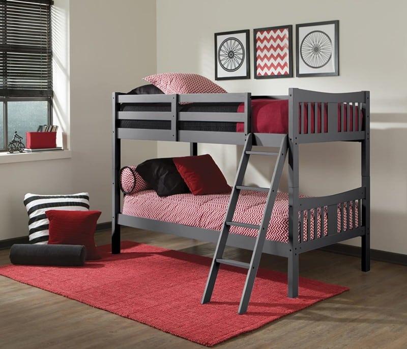 10. Storkcraft Caribou Hardwood Twin Bunk Beds